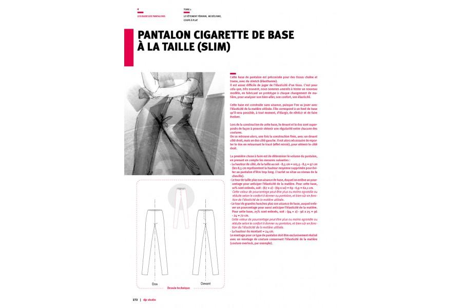 À Base Pantalon La Cigarette De Tailleslim E9HD2IW
