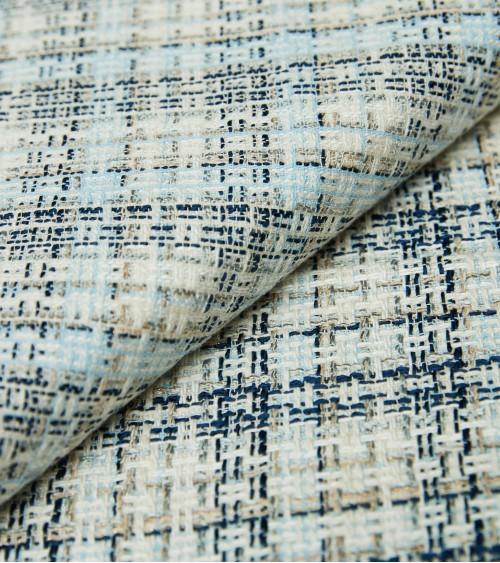 Tweed coton à carreaux...