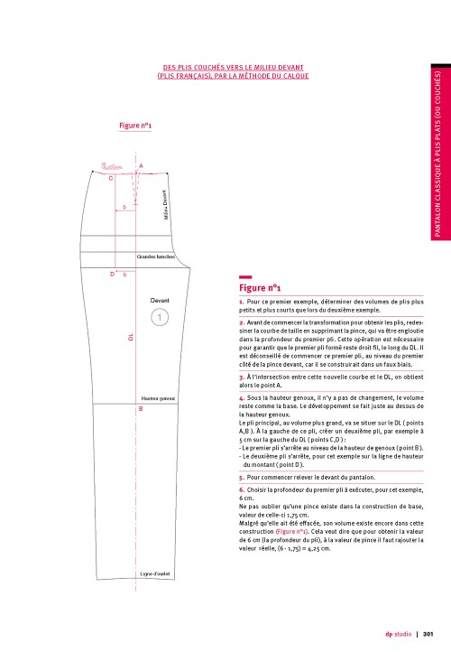 Classical trouser with flat or knife pleats