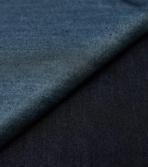 Coton effet jean brut bleu...