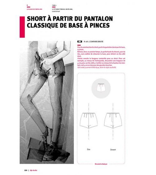 Short à partir du pantalon classique de base à pinces