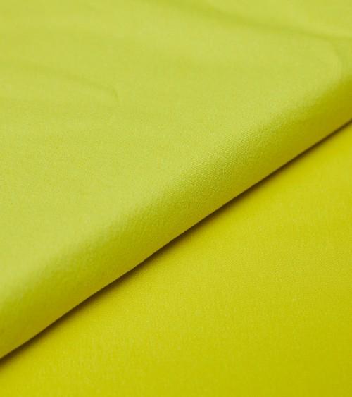 Coton/élasthanne uni jaune...