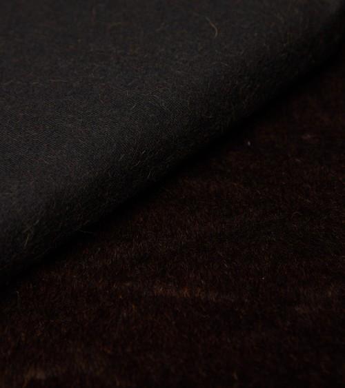 Alpaga sur base coton marron