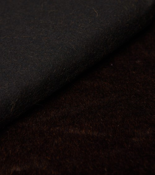 Brown alpaca fabric on...