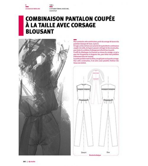 Combinaison pantalon coupée à la taille avec corsage blousant