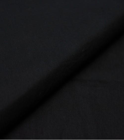 Black silk/cotton fabric