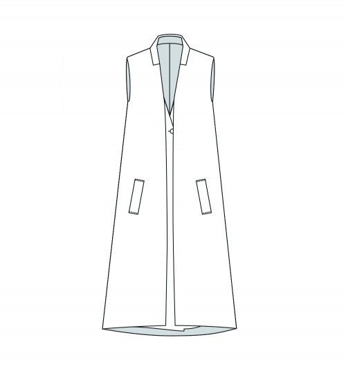 Sleeveless coat and gilet