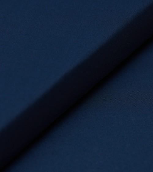 Soie/coton bleu marine