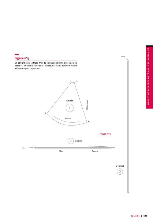 Maillot de bain deux pièces haut triangulaire