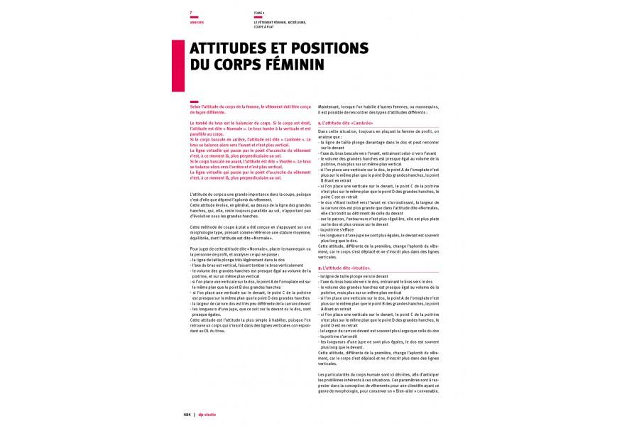 Attitudes et positions du corps féminin