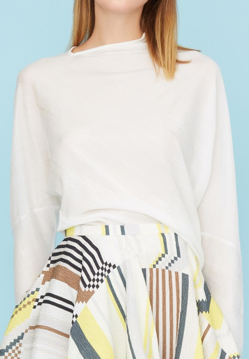 Knit asymmetric sweater