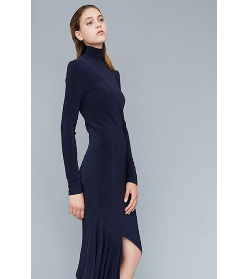Knit asymmetric dress